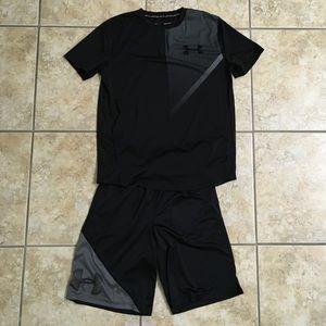 Boy's Under Armour Shirt & Shorts set
